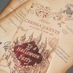Marauder's Map Invitations | Birthday | Harry Potter Halloween Party   Free Printable Marauders Map