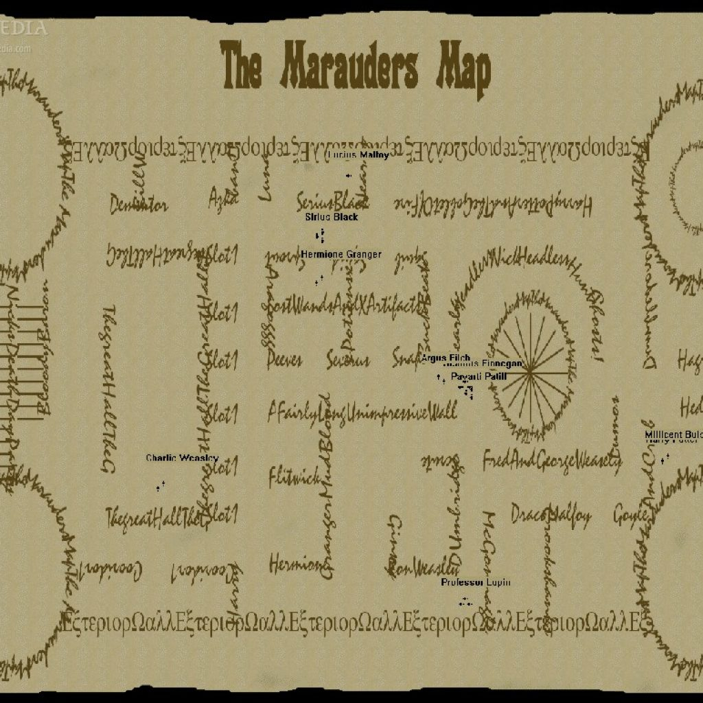 Marauders Map Printable Download Screensaver 1 0 - Marauders Map Printable