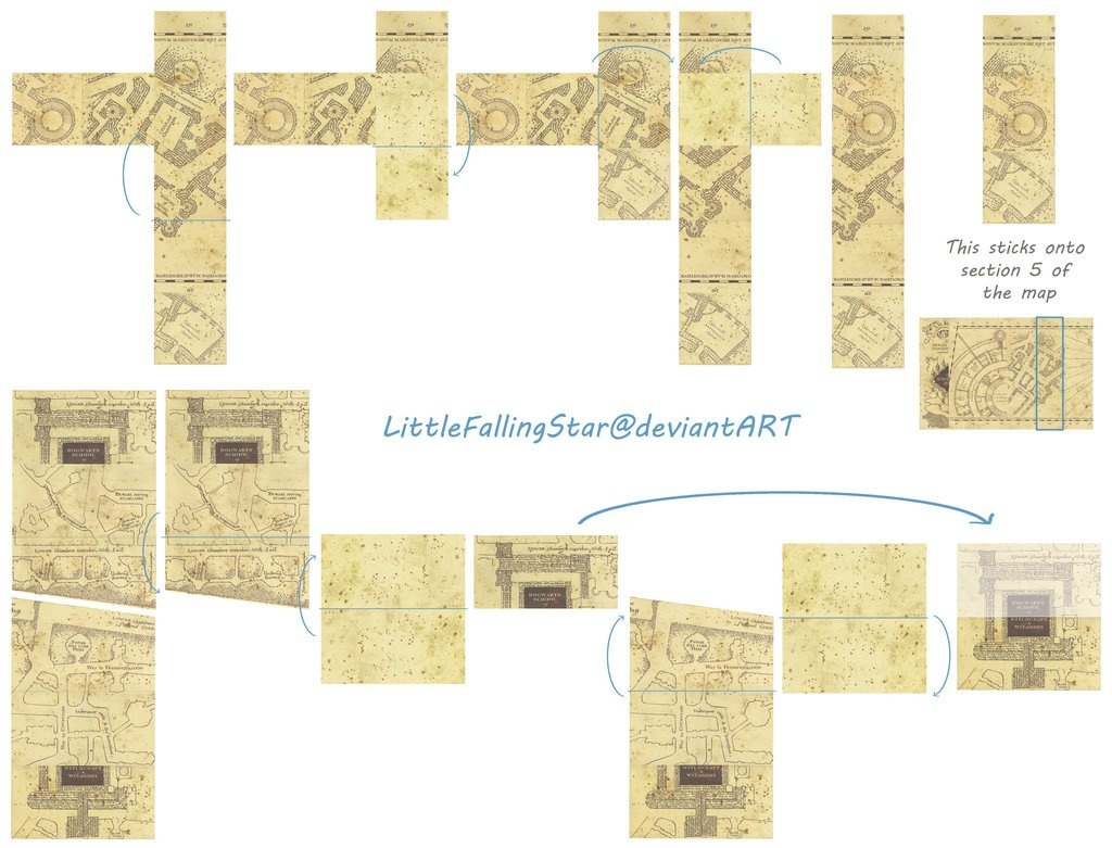Marauders Map Template – Dltemplates - Marauders Map Template Printable