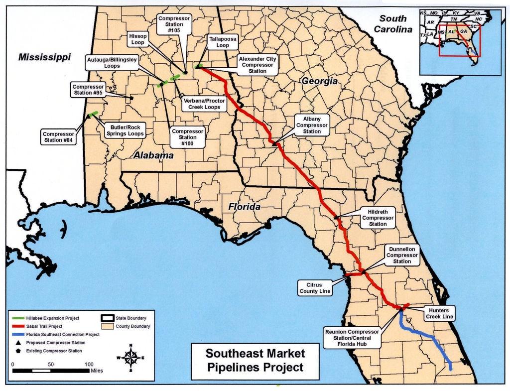 Marcellus/utica Gas Soon Heading To Florida Penninsula Via Sabal - Gas Availability Map Florida
