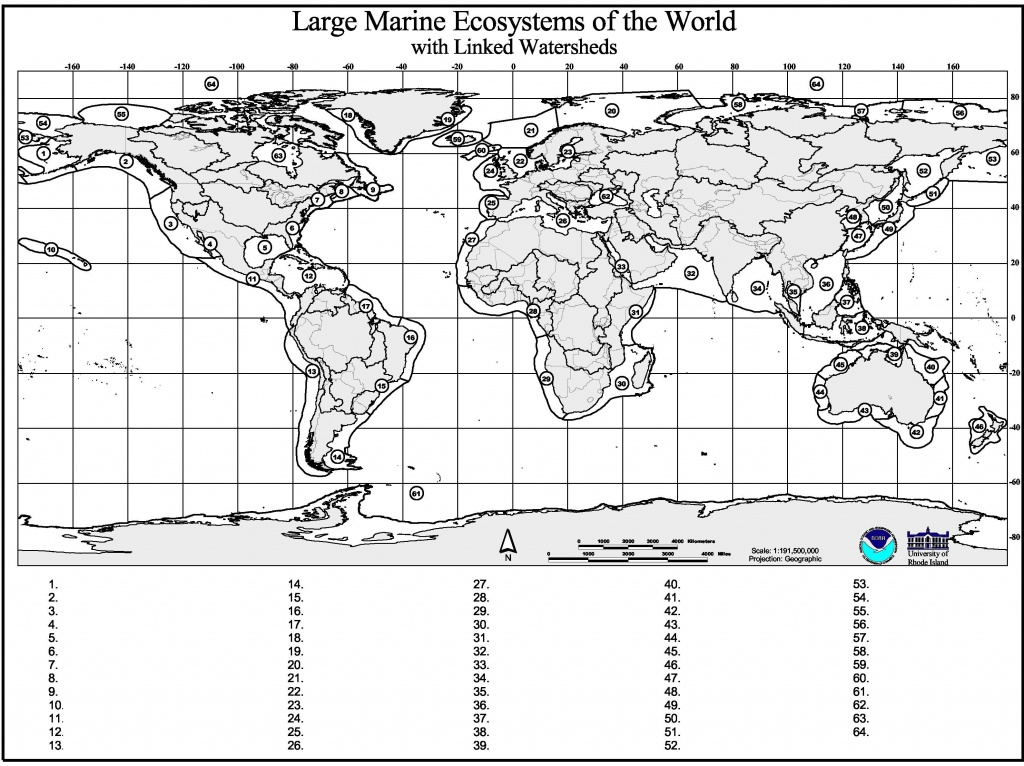 Marine Geography Quiz – Gcaptain - World Map Test Printable