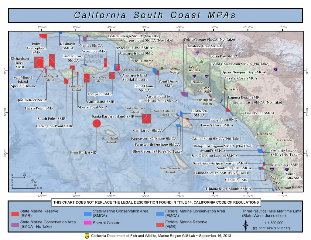 Marine Protected Areas | Los Angeles County Fire Department - Map Of Southern California Coast