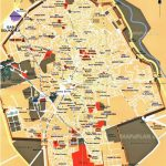 Marrakech Map   Central Inner City Must See Places & Main Landmarks   Marrakech Tourist Map Printable