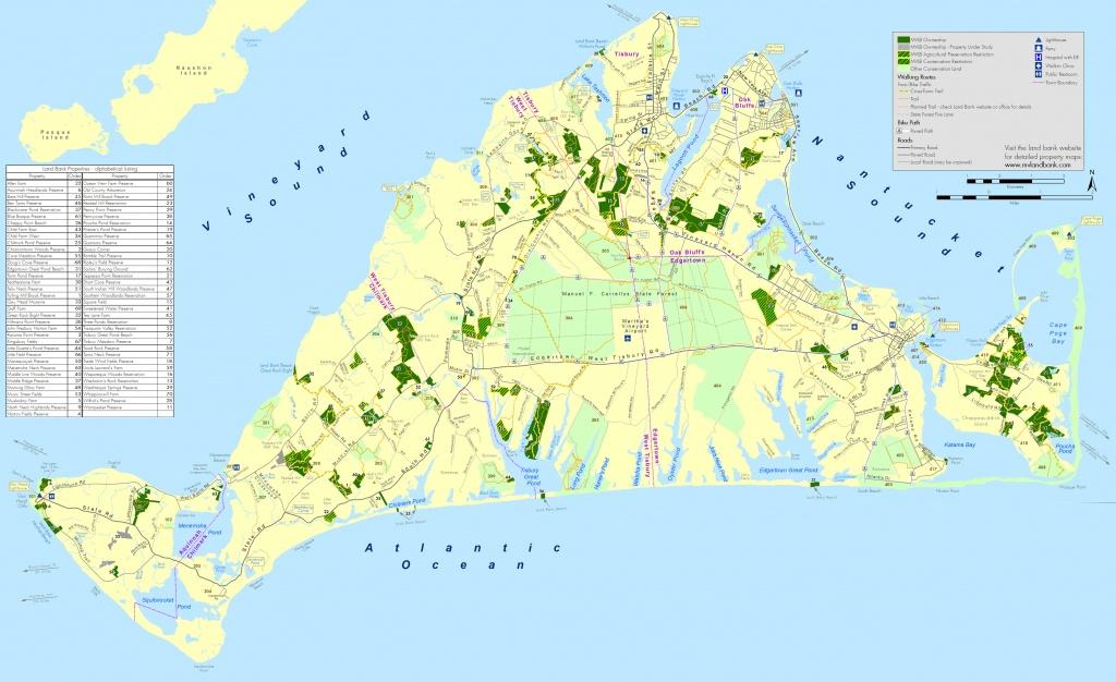 Martha's Vineyard Land Bank Commission - Martha's Vineyard Map Printable