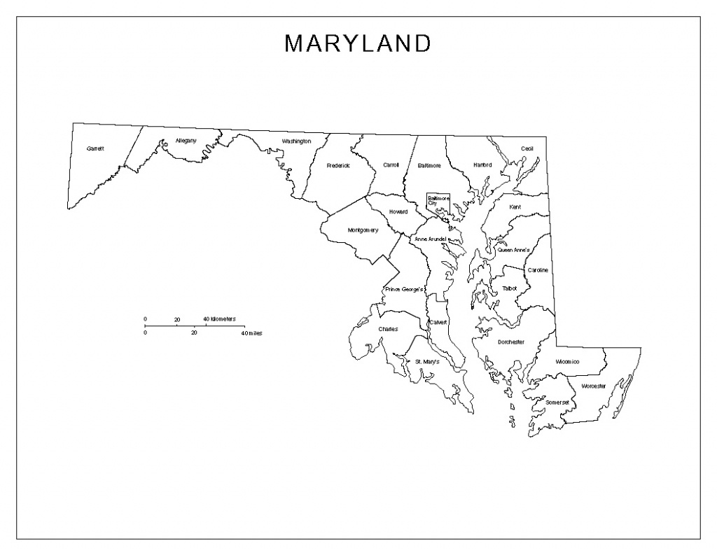 Maryland Labeled Map - Printable Map Of Maryland