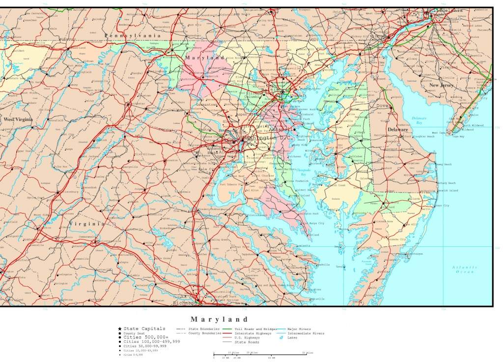 Maryland Political Map - Printable Map Of Maryland
