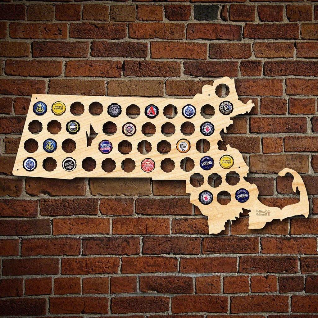 Massachusetts Beer Cap Map - Florida Beer Cap Map