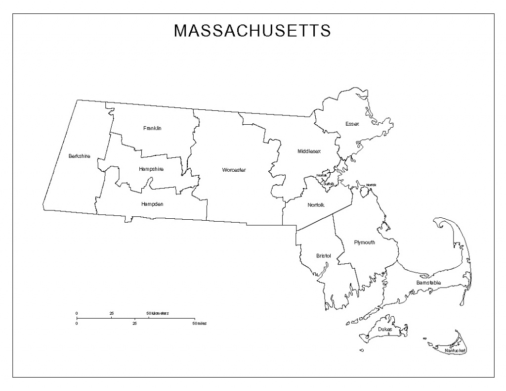 Massachusetts Labeled Map - Printable Map Of New England