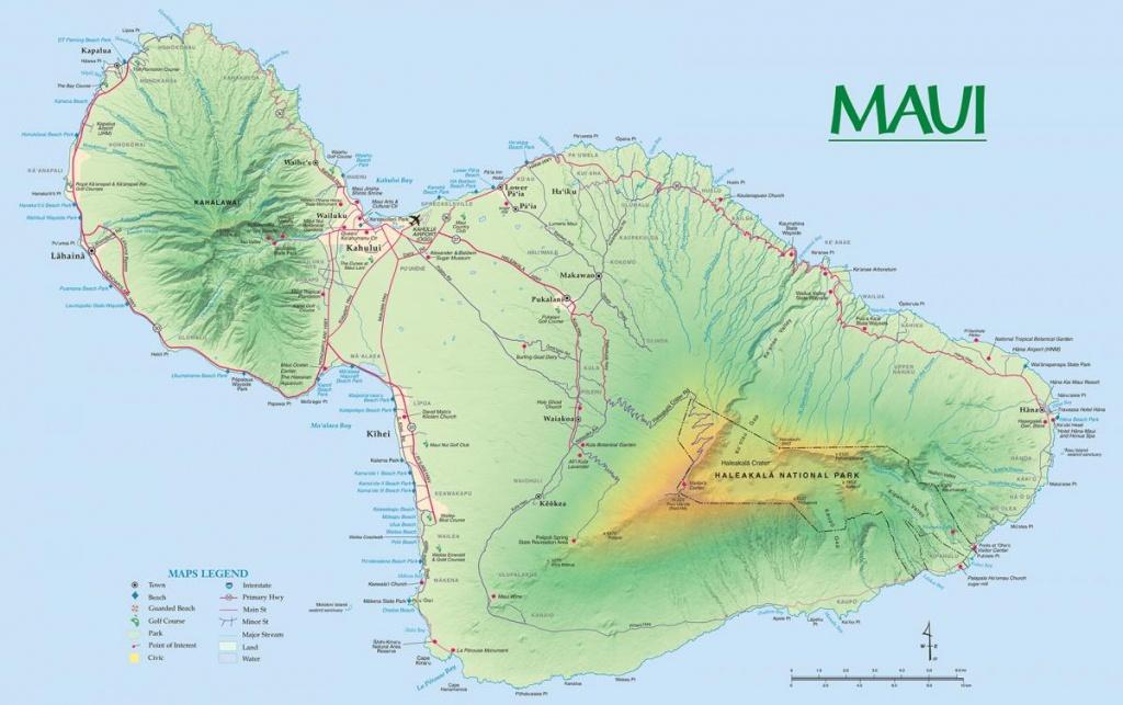 Maui Maps   Go Hawaii - Printable Road Map Of Kauai