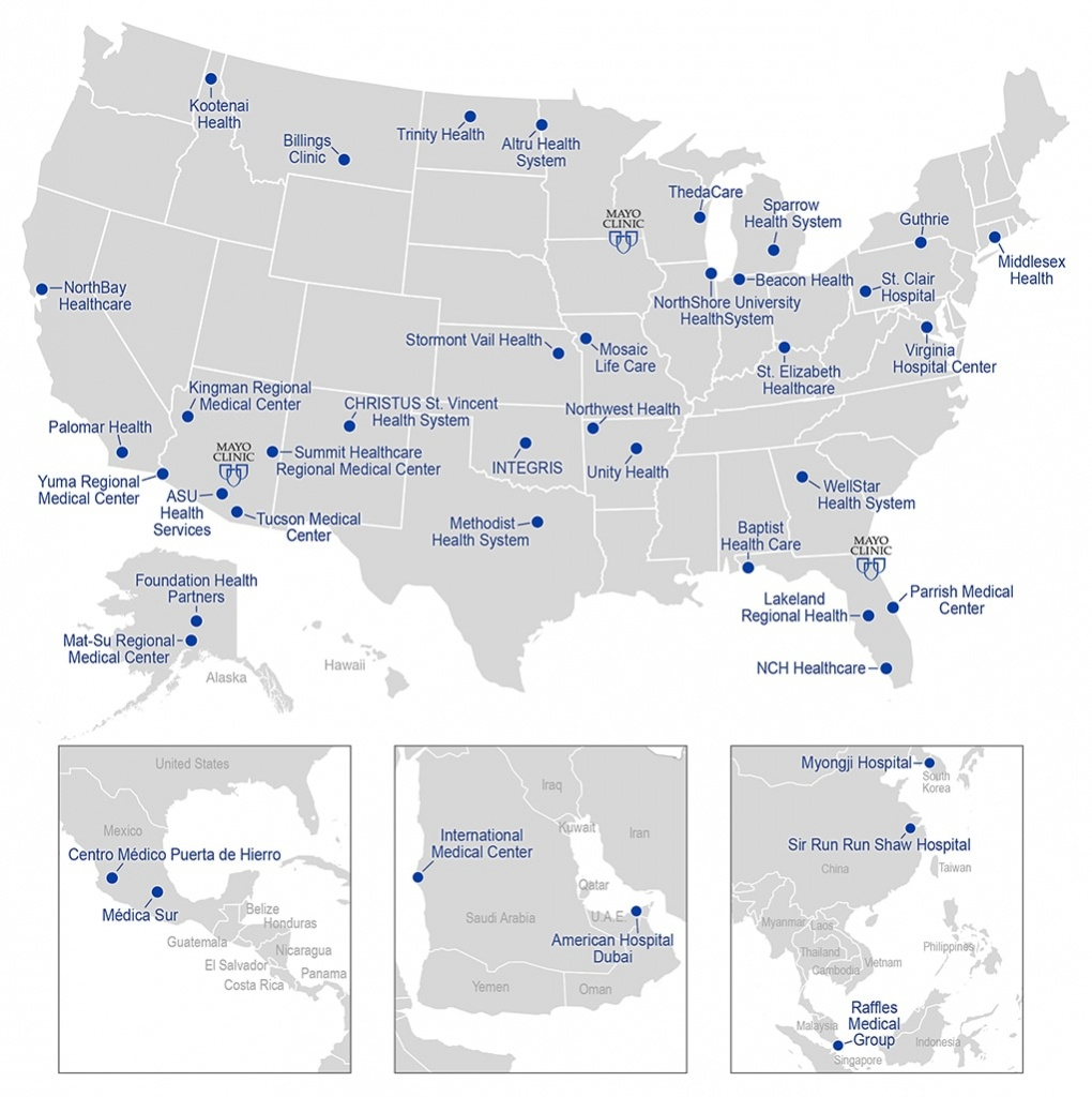 Mayo Clinic Care Network Map - About Us - Mayo Clinic - Mayo Clinic Florida Map