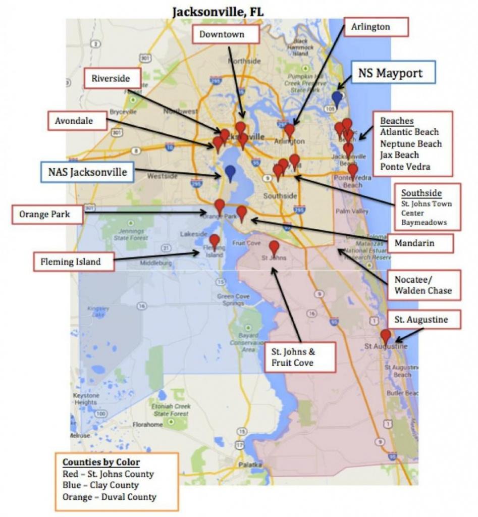 Mayport Fl Map - Map Of Mayport Fl (Florida - Usa) - Ponte Vedra Florida Map