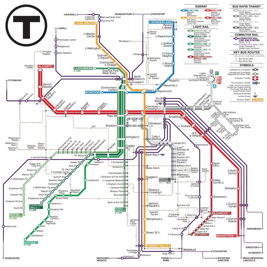 Mbta Subway Map (99+ Images In Collection) Page 3 - Mbta Subway Map Printable