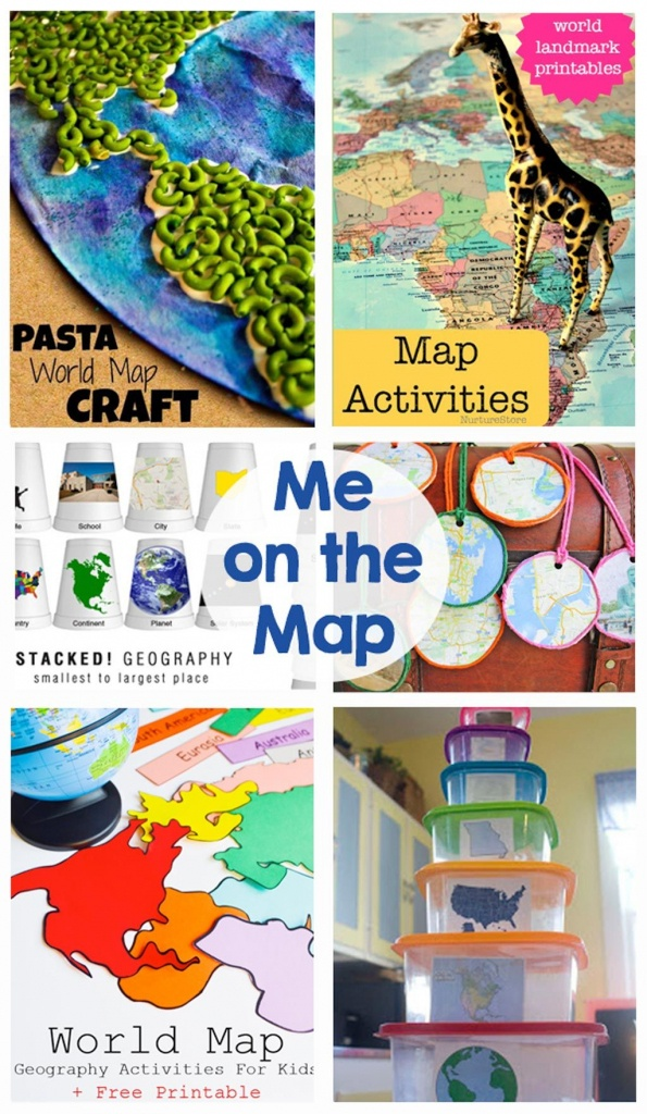 Me On The Map | Mommy's Montessori | Map Activities, Teaching Map - Me On The Map Printables