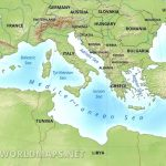 Mediterranean Map   Printable Map Of The Mediterranean Sea Area