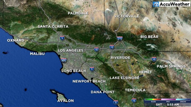 Southern California Weather Map
