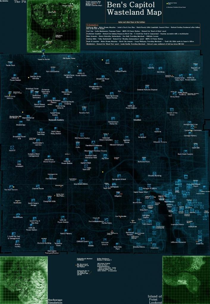 Mega Fallout 3 Map At Fallout3 Nexus - Mods And Community - Fallout 3 Printable Map
