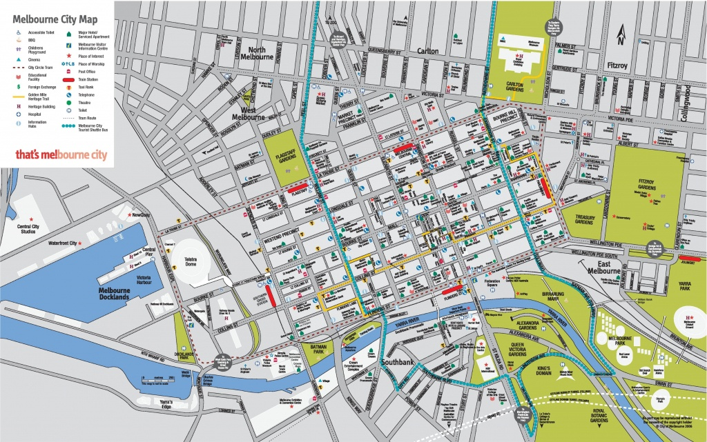 Melbourne Cbd Map - Melbourne Tourist Map Printable