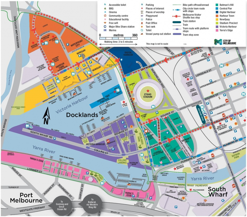 Melbourne Docklands Map - Melbourne Tourist Map Printable
