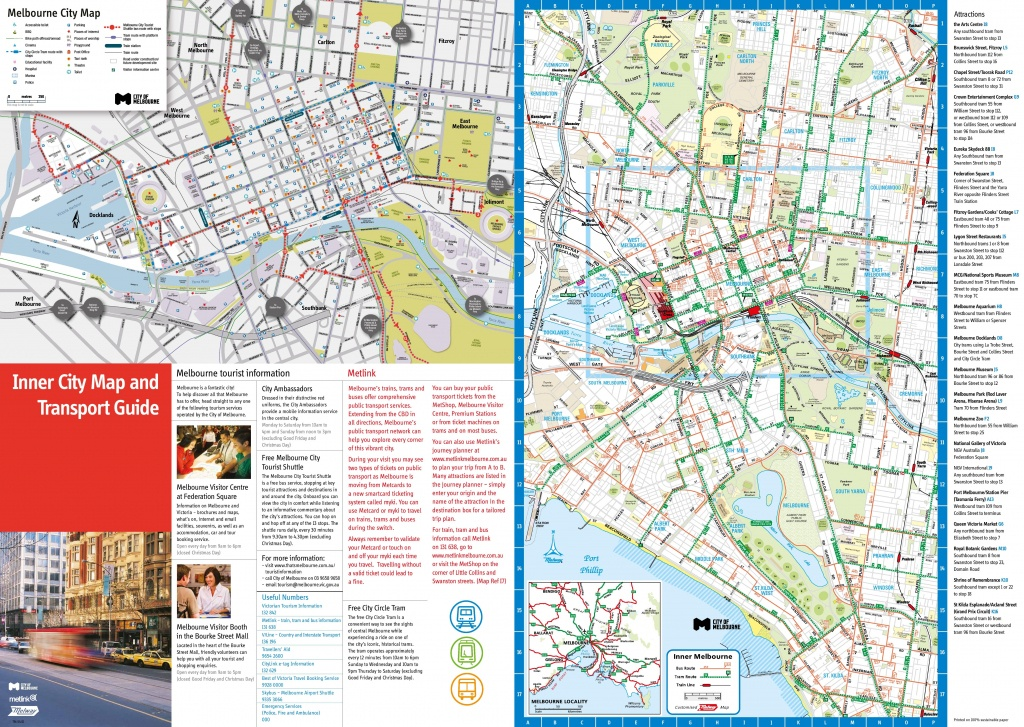 Melbourne Tourist Map - Melbourne Tourist Map Printable