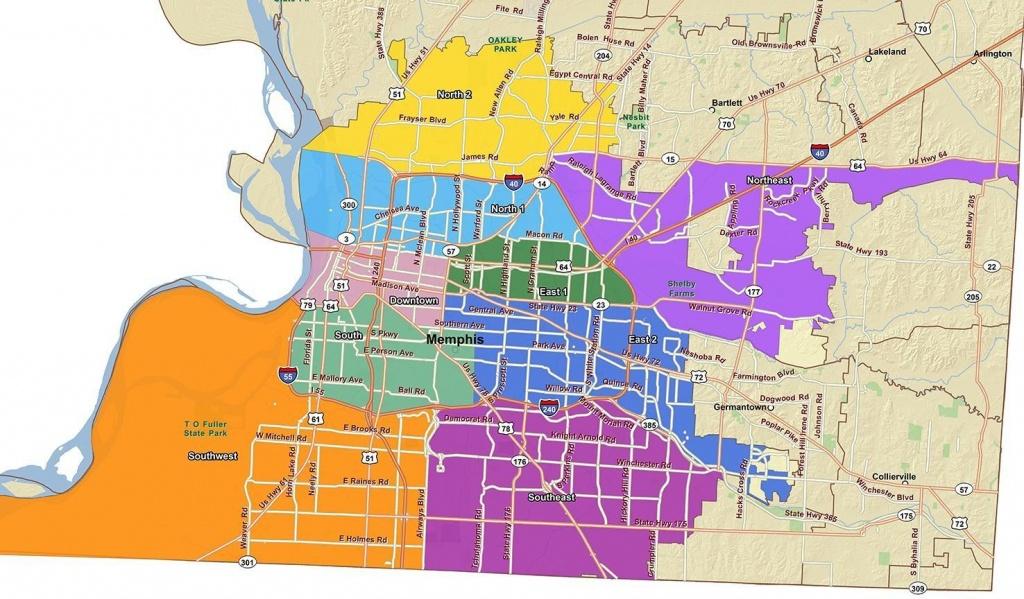 Memphis City Council District Map - City Of Memphis Map (Tennessee - Memphis City Map Printable