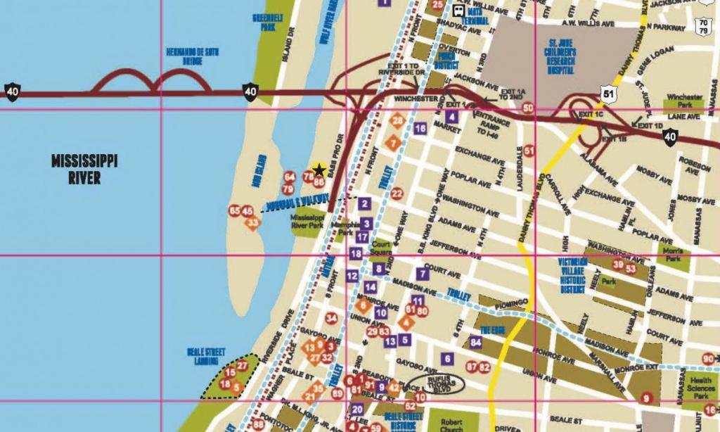 Memphis Map | Map Of Memphis & The Surrounding Areas - Memphis City Map Printable