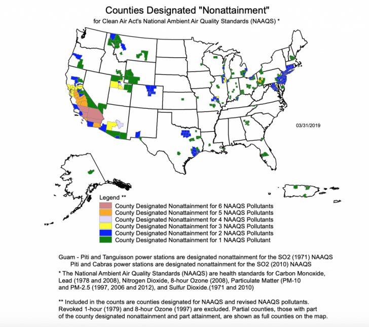 Ultra Low Nox Requirements California Map