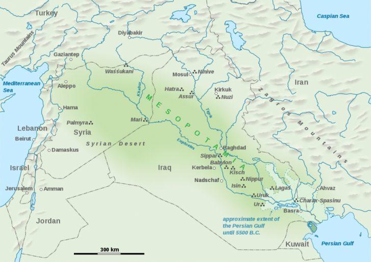 Free Printable Map Of Mesopotamia