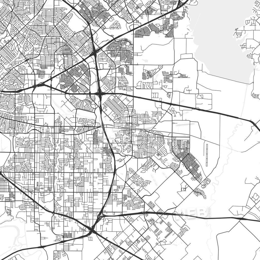 Mesquite, Texas - Area Map - Light - Mesquite Texas Map