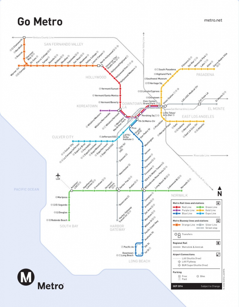 Metro-Rail: Los Angeles Metro Map, United States - California Metro Rail Map