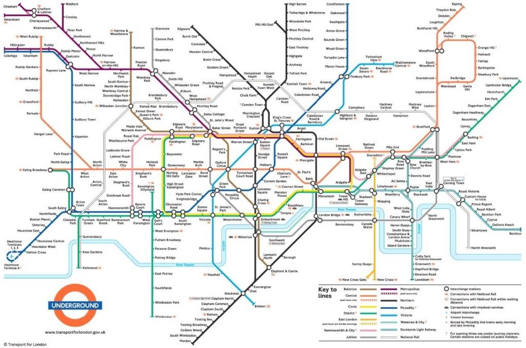 Metrokaart Londen   Londen In 2019   Londen Metro, Londen, Kaarten - London Underground Map Printable A4