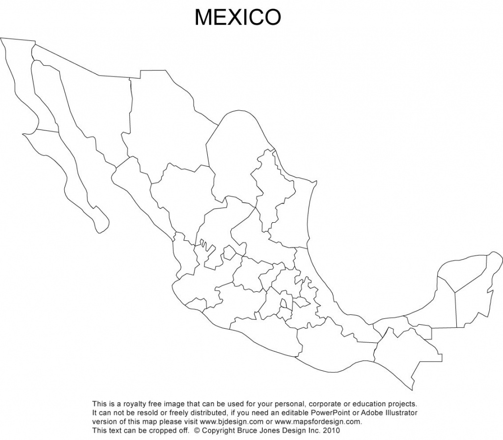 Mexico Blank Printable Map, Royalty Free, Clip Art Cc Cycle 1, Week - Free Printable Map Of Mexico