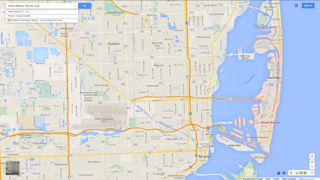 Miami Beach Florida Map - Map Of Miami Beach Florida