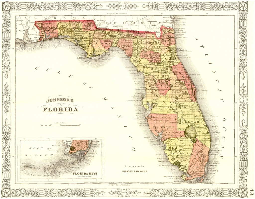 Miami Beach | History Of Florida | Vintage Florida, State Map, Map - Historic Florida Maps
