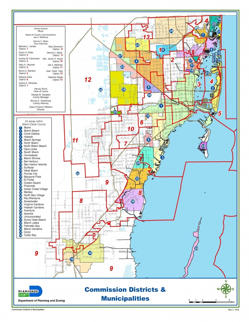 Miami-Dade Municipalities Map   Miami Real Estate Maps And Graphics - Map Of Miami Florida And Surrounding Areas