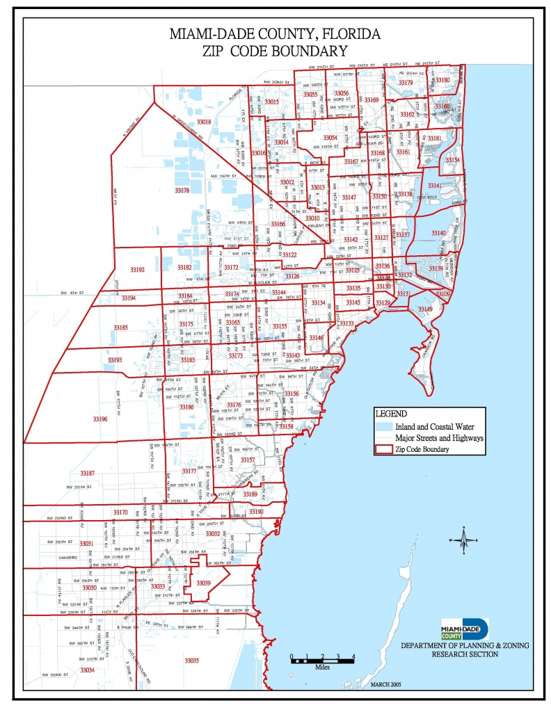 Miami-Dade Zip Code Map   Miami Real Estate Maps And Graphics In - Map Of Miami Florida And Surrounding Areas