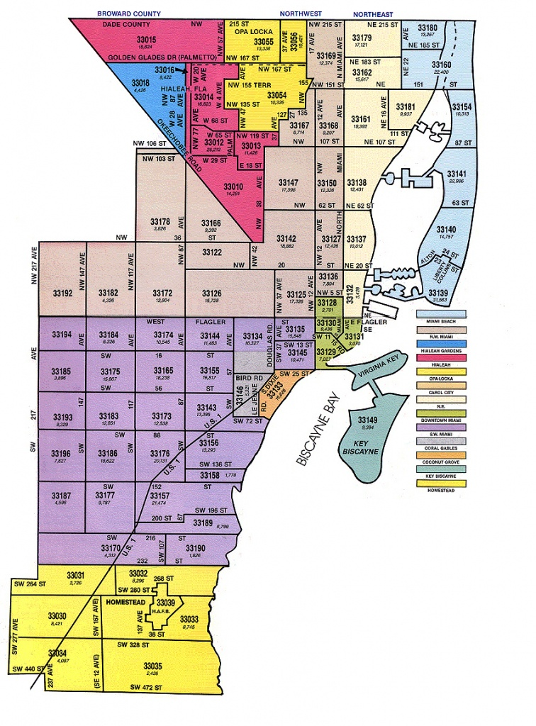 Miami-Dade Zip Code Map - Mls Listings Florida Map