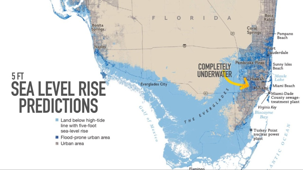 Miami May Be Underwater2100 - Florida Global Warming Map