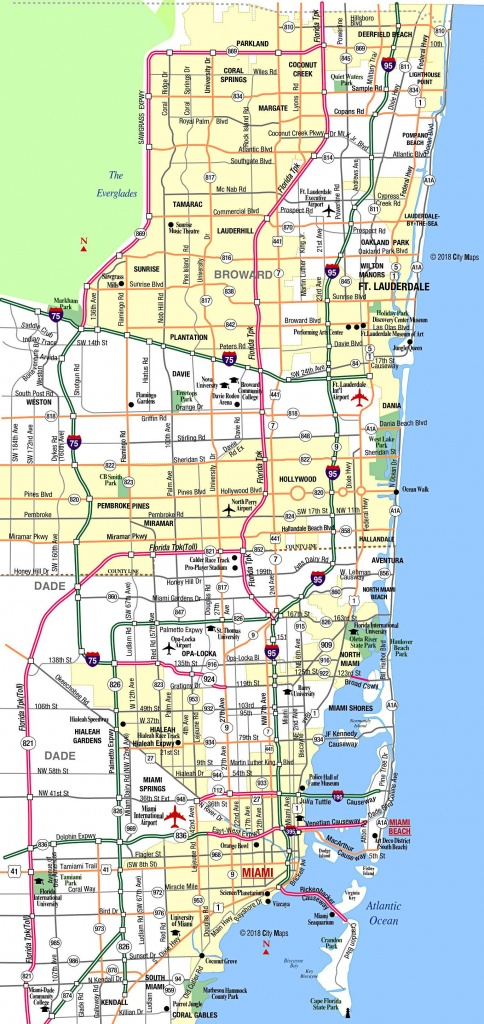 Miami Metropolitan Area Highways - Aaccessmaps - Miami Florida Map