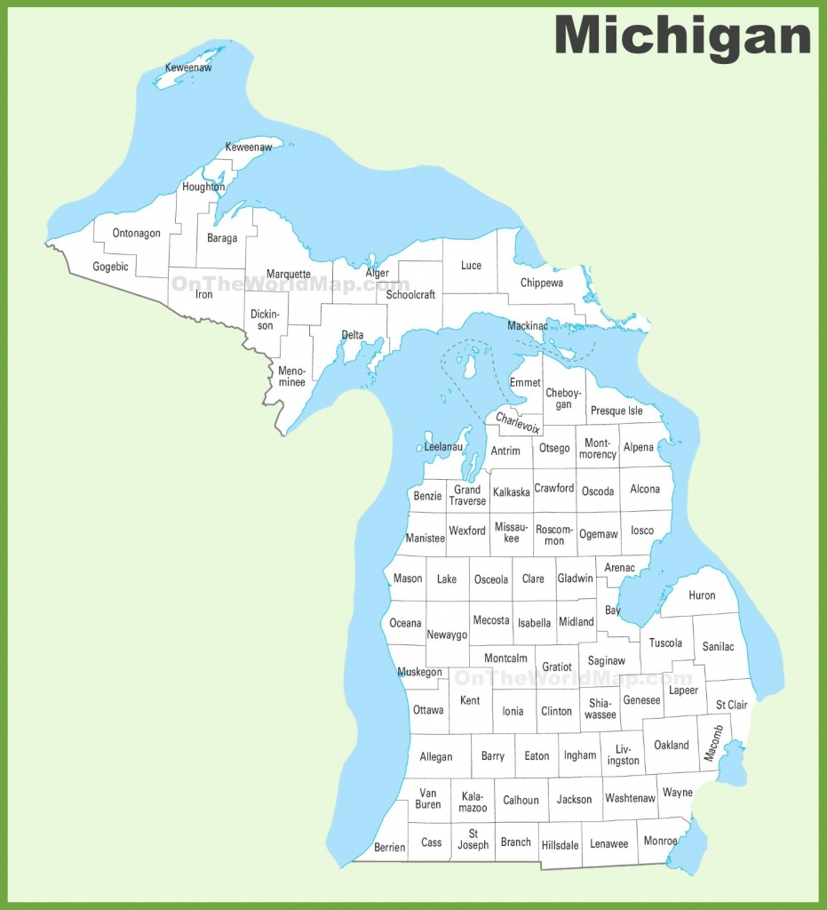 Michigan County Map - Michigan County Maps Printable