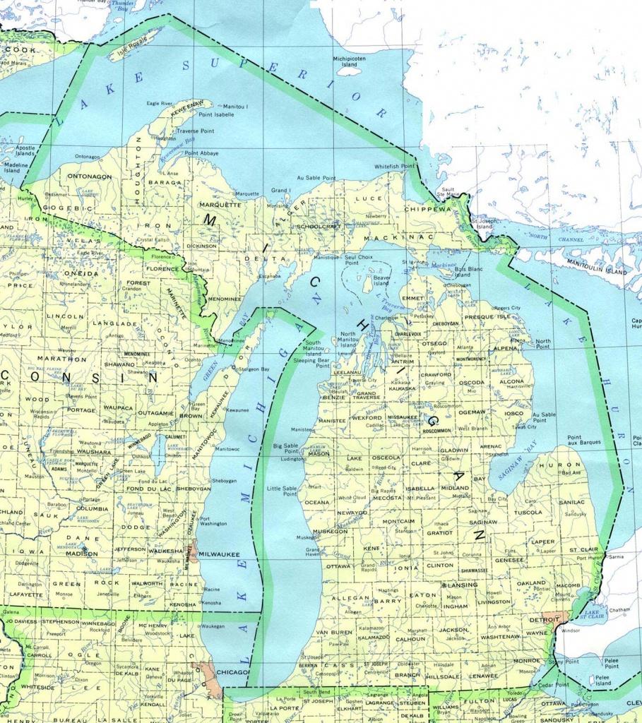 Michigan Printable Map - Printable Upper Peninsula Map