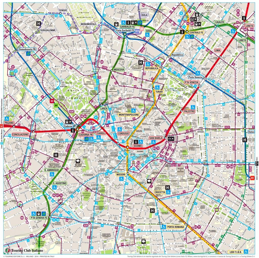 Milan Maps | Italy | Maps Of Milan (Milano) - Printable Map Of Milan