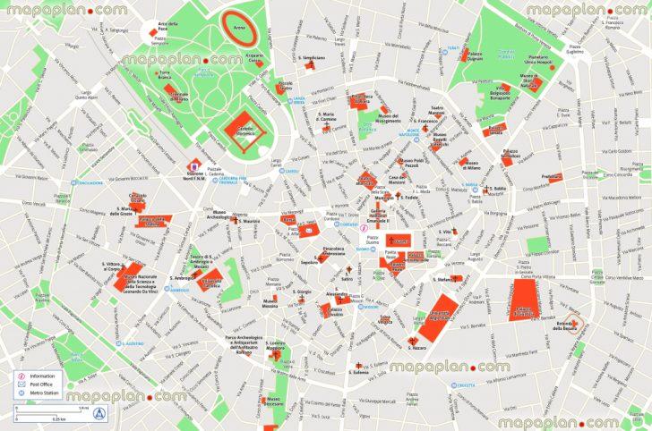 Printable Map Of Milan