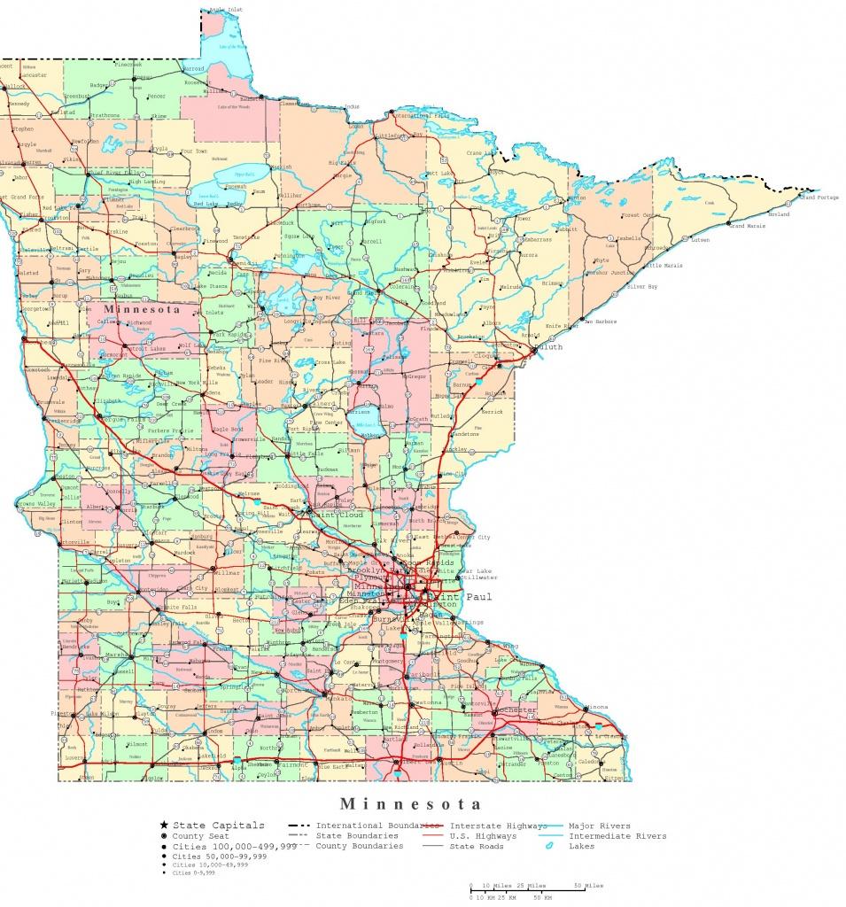 Minnesota Printable Map - Printable Map Of Minnesota