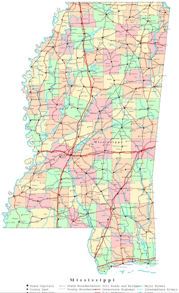 Mississippi Printable Map - Printable State Maps With Counties