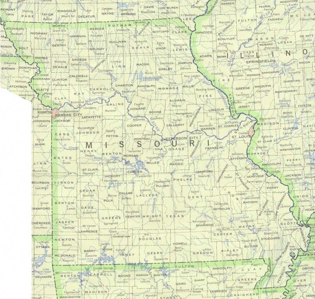Missouri Base Map - Printable Blank Map Of Missouri
