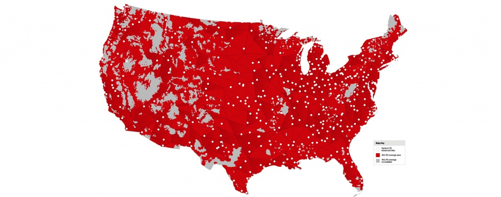 Mobile Users In 461 Markets Today Get 50% Faster Peak Speeds At No - Verizon Lte Coverage Map California