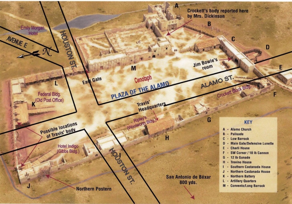 Modern Street Overlay Of The Alamo Plaza.   The Alamo In 2019 - Map Of The Alamo San Antonio Texas