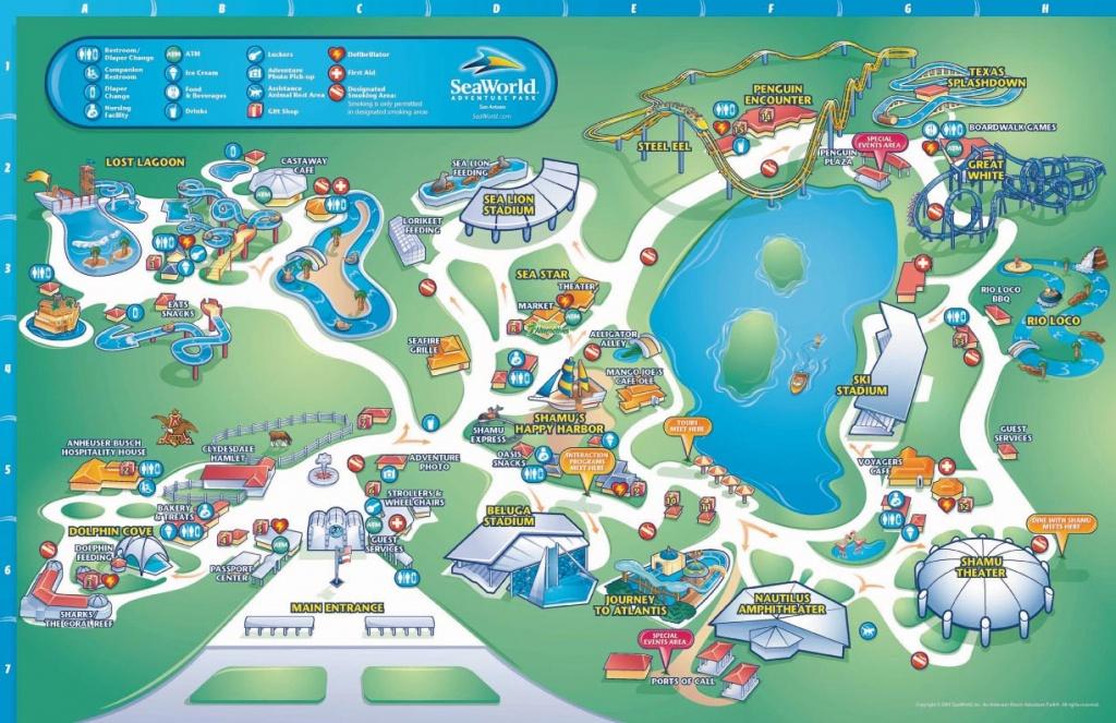 Mohawk Travel Blog: 2012 - Texas State Aquarium Map