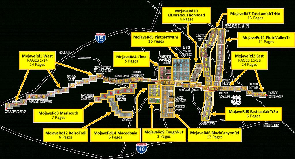 Mojave Road Offroad Trail Maps - Mojave California Map