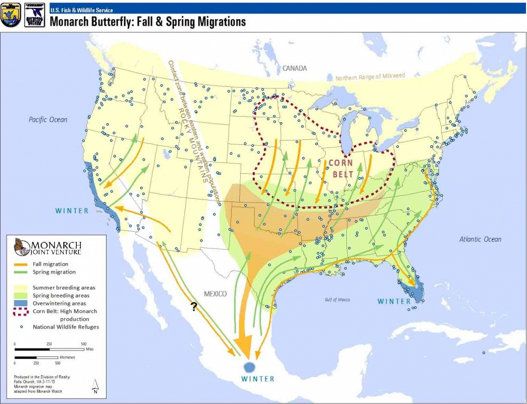 Monarchs: North America's Butterfly | National Wildlife Refuge System - Monarch Butterfly Migration Map California